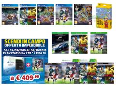 FIFA 16, Pro Evolution Soccer 2016, Saint Seiya Soldiers' Soul, Destiny Il Re dei Corrotti, Forza Motorsport 6, Super Mario Maker
