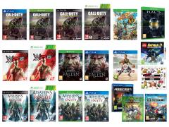 Assassin's Creed Unity, Call of Duty Advanced Warfare, Lords of the Fallen, Sunset Overdrive, HALO The Master Chief Collection, Assassin's Creed Rogue, WWE 2K15, Minecraft, Freedom Wars, LEGO Batman 3 Gotham e Oltre, Invizimals Gli Invincibili, Ultimate NES Remix