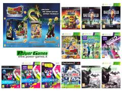 Battlefield 3, Batman Arkham City, Dragon Ball Z Ultimate Tenkaichi, Ratchet & Clank Tutti per Uno, Just Dance 3, Dance Central 2, KINECT Sports Stagione 2, Pro Evolution Soccer 2012