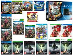 Far Cry 4, Grand Theft Auto V, Dragon Age Inquisition, WWE 2K15, La Terra di Mezzo L'Ombra di Mordor, Pokémon Zaffiro Alpha, Pokémon Rubino Omega, Sonic Boom Frammenti di Cristallo, Super Smash Bros. for Wii U
