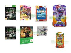 Injustice, Fire Emblem Awakening, One Piece Unlimited Cruise 2, Wii Sports Resort Selects