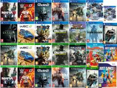 Rise of the Tomb Raider, World of Final Fantasy, Dragon Quest Builders, Battlefield 1, Titanfall 2,Call of Duty Infinite Warfare, Mafia III, WWE 2K17, Ride 2, Skylanders Imaginators Starter Pack, Batman Return to Arkham, WRC 6, Skyrim Special Edition, Dragon Ball Xenoverse 2, Gears of War 4, Just Dance 2017, Paper Mario Color Splash