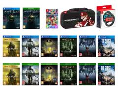 Injustice 2, Dark Souls III The Fire Fades GOTY Ed, Sniper Ghost Warrior 3, Little Nightmares, Mario Kart 8 Deluxe, Prey, Outlast Trinity, The Surge
