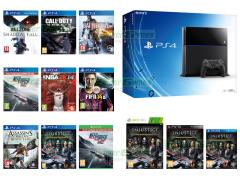 Killzone Shadowfall, Need For Speed Rivals, Call of Duty Ghosts, Battlefield 4, FIFA 14, NBA 2K14, Assassin's Creed IV Black Flag, Injustice Gods Among Us Ultimate Edition