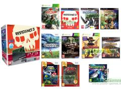Resistance 3, Gran Turismo 5 Platinum, Dead Island, Warhammer Space Marine, Monkey Island Adventures Coll. Ed. Spec., God of War Collection Volume II, Gunstringer (KINECT), Rise of Nightmares (KINECT),Xenoblade Chronicles, Star Fox 64 3D
