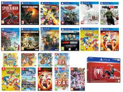 Shadow of the Tomb Raider, NBA 2K19, F1 2018, Divinity Original Sin II Definitive Edition, Shenmue HD I & II, Marvel's Spider-Man, Yakuza Kiwami 2 Limited Edition, Strange Brigade, Dragon Quest XI Edition of Light, Naruto Boruto Shinobi Striker, LEGO Gli Incredibili, Captain Toad Treasure Tracker, Wario Ware Gold, Yo-Kai Watch Blasters Cricca Gatti Rossi, Yo-Kai Watch Blasters Banda Cani Pallidi, SNK Heroines Tag Team Frenzy