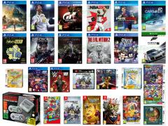 Assassin's Creed Origins, Gran Turismo Sport, FIFA 1, Pro Evolution Soccer 2018, La Terra di Mezzo Ombra della Guerra, The Evil Within 2, South Park Scontri Di-Retti, Marvel VS. Capcom Infinite, Project Cars 2, NBA 2K18, WWE 2K18, Dishonored La Morte dell'Esterno, Black Guards 2, Inside + Limbo Double Pack, Fallout 4 GOTY, LEGO Ninjago il film Videogame, ELEX, Forza Motorsport 7, Metroid Samus Returns, Mario & Luigi Superstar Saga+Scagnozzi, Fire Emblem Warriors, Il Prof. Layton Katrielle e il complotto, YO-KAI Watch 2 PsicoSpettri, Pokémon Versione Oro DCC, Pokémon Versione Argento DCC, Super Mario Odyssey, Pokkén Tournament DX, Dragon Ball Xenoverse 2, Rayman Legends Definitive Edition