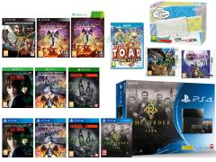 The Order 1886, Evolve, Dead or Alive 5 Last Round, Saints Row IV Re-Elected Gat out of Hell, The Legend of Zelda Majora's Mask, Monster Hunter 4 Ultimate, Fighting Edition (Tekken 6, Tag Tournament 2, Soul Calibur V)