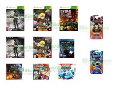 Tomb Raider, Naruto Shippuden Ultimate Ninja Storm 3, Under Defeat HD Deluxe Edition, Castlevania Lords of Shadow Mirror of Fate,  Naruto Powerful Shippuden, Ninja Gaiden Sigma 2 Plus