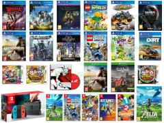 Berserk and the Band of the Hawk, Horizon Zero Dawn, Torment Tides of Numenera, Dirt Rally VR, Tom Clancy's Ghost Recon Wildlands, Nier Automata, LEGO Worlds, LEGO City Undercover, Flatout 4 Total Insanity, Mass Effect Andromeda, Kingdom Hearts 1.5 HD & 2.5 HD, Yooka-Laylee, Persona 5, Halo Wars 2, The Legend of Zelda Breath of the Wild, 1-2-Switch, Super Bomberman R, Mario Sports Superstar, Yo-Kai Watch 2 Polpanime, Yo-Kai Watch 2 Spiritossi
